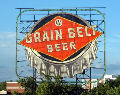 Grain Belt sign, Minneapolis