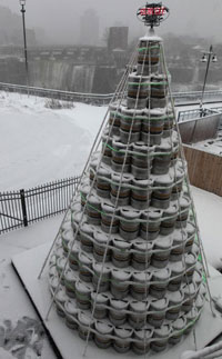 Genesee keg Christmas tree