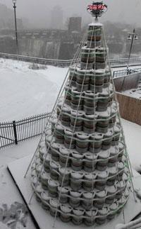 Genesee keg Christmas tree