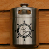 Kootenai River Brewing Stainless Steel Keg Growler